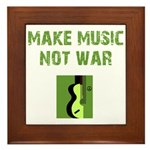 Make Music Not War Framed Tile