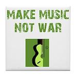 Make Music Not War Tile Coaster