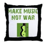 Make Music Not War Throw Pillow