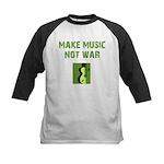 Make Music Not War Kids Baseball Jersey