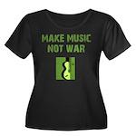 Make Music Not War Women's Plus Size Scoop Neck Da