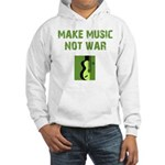 Make Music Not War Hooded Sweatshirt