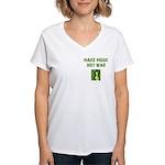 Make Music Not War Women's V-Neck T-Shirt