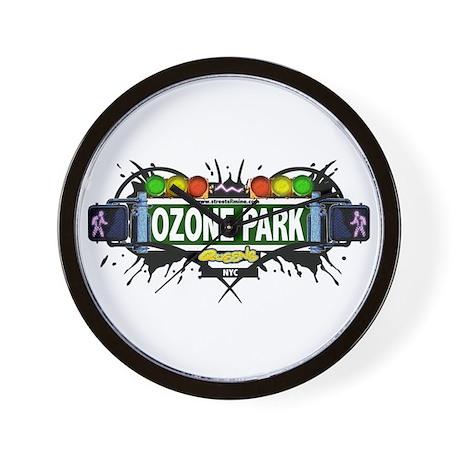 Ozone Park (White) Wall Clock