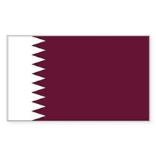 Qatar Country Flag Rectangle Decal