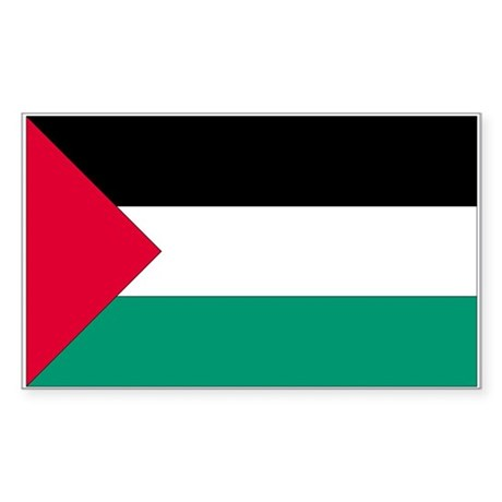 Palestine Country Flag Rectangle Sticker