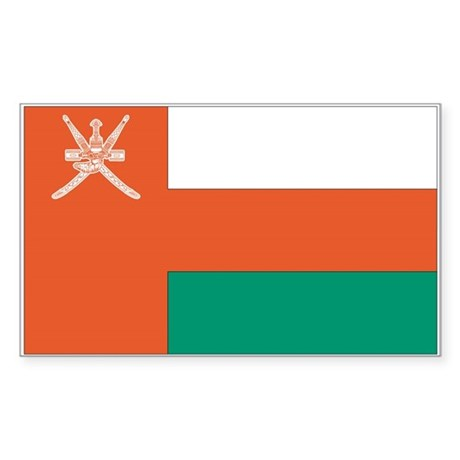 Oman Country Flag Rectangle Sticker