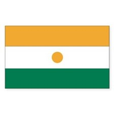 Niger Country Flag Rectangle Decal