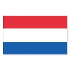 Netherlands Country Flag Rectangle Decal