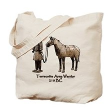 Terracotta Army Warrior Horse Tote Bag