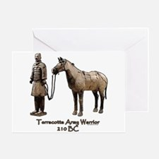 Terracotta Army Warrior Horse Greeting Card