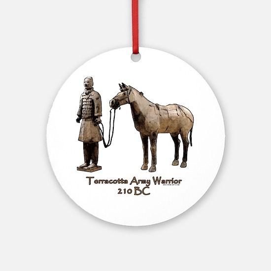 Terracotta Army Warrior Horse Ornament (Round)