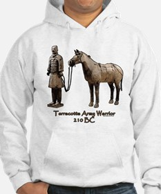 Terracotta Army Warrior Horse Hoodie Sweatshirt