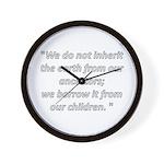 We do not inherit Wall Clock