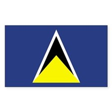 St Lucia Country Flag Rectangle Decal