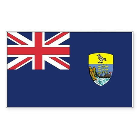 St Helena Country Flag Rectangle Sticker