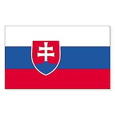 Slovakia Country Flag Rectangle Decal