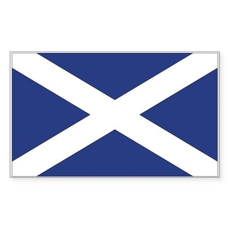 Scotland Flag Rectangle Sticker
