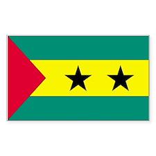 Sao Tome & Principe Flag Decal