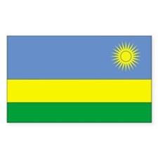 Rwanda Country Flag Rectangle Decal