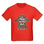 Plays in the dirt Kids Dark T-Shirt