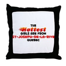 Hot Girls: St-Joseph-de, QC Throw Pillow