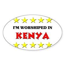 I'm Worshiped In Kenya Oval Decal