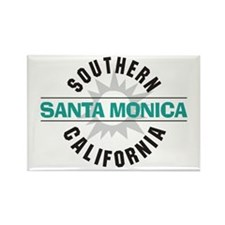 Santa Monica California Rectangle Magnet (10 pack)
