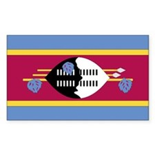 Swaziland Country Flag Rectangle Decal
