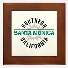 Santa Monica California Framed Tile