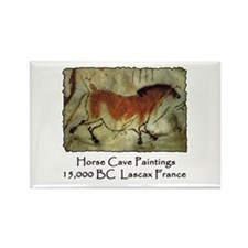Horse Cave Painting Petroglyph Rectangle Magnet