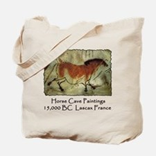 Horse Cave Painting Petroglyph Tote Bag