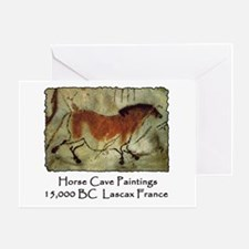 Horse Cave Painting Petroglyph Greeting Card