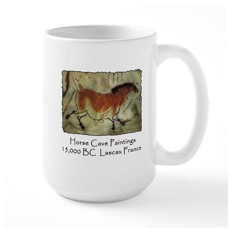 Horse Cave Painting Petroglyph Large Mug