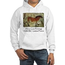 Horse Cave Painting Petroglyph Hoodie