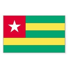 Togo Country Flag Rectangle Decal