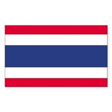 Thailand Country Flag Rectangle Decal