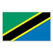 Tanzania Country Flag Rectangle Decal