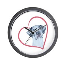 N Heartline Mrlqn Wall Clock