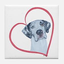 N Heartline Mrlqn Tile Coaster