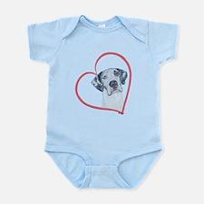 N Heartline Mrlqn Infant Bodysuit