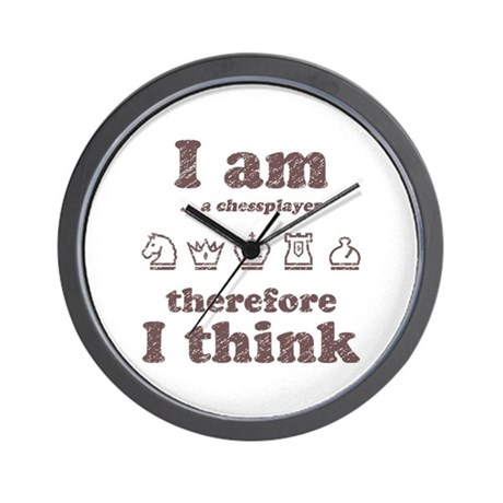 I AM Therefore I Think Wall Clock
