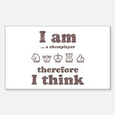 I AM Therefore I Think Rectangle Decal