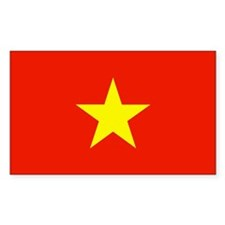 Vietnam Country Flag Rectangle Decal