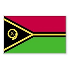 Vanuatu Country Flag Rectangle Decal