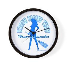 Broom Racing Blue Wall Clock