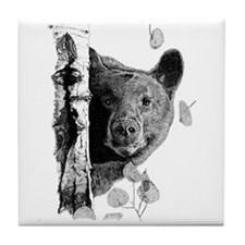 Aspen Bear Tile Coaster