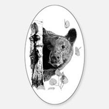 Aspen Bear Oval Decal