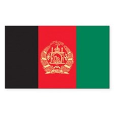 Afghanistan Country Flag Rectangle Decal