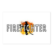 Firefighter Flames Postcards (Package of 8)